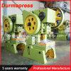 Prensa de potencia mecánica de la punzonadora de la hoja de metal de la fabricación J23-160