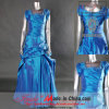 Tafetá mais o vestido do baile de finalistas do tamanho (4032EB)