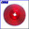 Turbo Flange Diamond Saw Blade con Cooling Holes