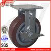 6X2 Hochleistungs-TPU örtlich festgelegte Fußrolle mit seitlicher Bremse