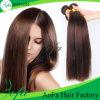 Aofaの毛の工場卸売2016ブラウン100%年のRemyの人間の毛髪