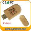Lecteur flash USB de disque de crayon lecteur de logo personnalisé par modèle en bois (EW005)
