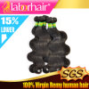 급료 7A 브라질 Body Wave 100%년 Virgin Human Hair Extensions