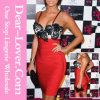 Сексуальное красное Женское бельё-Воодушевлянное платье повязки выпускного вечера верхней части шнурка