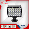 CC 9-36V IP67 6.5inch 72W Quad Row LED Light Bar