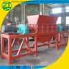 Het recycling van de Plastic Dubbele Ontvezelmachine van de Schacht voor Stevig Afval
