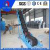 Transportador de cinto de grande angular para armazenamento em massa de materiais