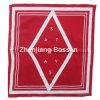 Bandanna promozionale del cotone rosso stampato marchio su ordine