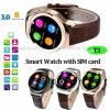 Téléphone intelligent de montre de Bluetooth avec la fente de carte SIM (T3)