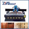 Máquina de madeira do router do CNC da tabela dobro do vácuo das cabeças