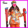 カスタム方法冬の屋外の防水防風の通気性の女性の花のボードのスキースーツ