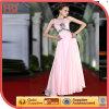 Vestido de noite frisado cor-de-rosa Sleeveless do cetim da parte alta (WZSD-514-002)