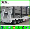 60ton de op zwaar werk berekende Semi Aanhangwagen van het Bed van de TriAs van het Vervoer van het Graafwerktuig Lage