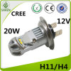 CREE H4 LED Car Light LED Fog Bulbo de nevoeiro 20W