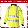 Camicia di polo lunga di sicurezza del manicotto di colore giallo ciao del Workwear fluorescente di forza (ELTSPSI-20)