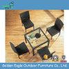 Tabella quadrata pranzante esterna della mobilia del rattan