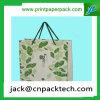 Bolsa de papel de papel de Kraft del verde del bolso del regalo con la maneta