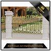 Valla de seguridad de aluminio revestida del polvo decorativo del jardín del chalet