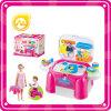 Lavagem plástica do brinquedo do miúdo, brinquedo da lavanderia com luz e música