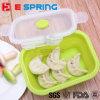 4 em 1 caixa de almoço ajustada do silicone do recipiente de alimento