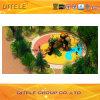 de 114mm Gegalvaniseerde Post Kleurrijke Apparatuur van de Speelplaats van de Kinderen van de Dia van de Buis Openlucht