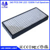 El espectro completo 1200W LED crece la lámpara de la planta de las Doble-Virutas 10W LED de las luces para el crecimiento hidropónico de los vehículos del invernadero
