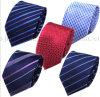 Cravate à rayures jacquard OEM Cravate Polyster pour costumes professionnels
