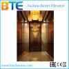 Elevador do passageiro de Luxuary com a cabine Titanium da decoração
