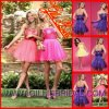 浮気者のストラップレスの夜会服の花のオーガンザのカクテルドレスの帰郷の服(Gillis1693)