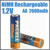 Baterías recargables AA 2000mAh (AA 2000mAh) de NiMH del consumidor