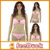 De vrouwen vormen het Mooie Roze Sexy Zwempak van de Opdrukoefening (KS610307)