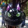 Modello nero gonfiabile gigante del ragno di Halloween per la decorazione esterna del partito