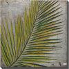 Pintura al óleo de hoja de palma grande verde (LH-500938-B)
