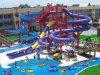 ガラス繊維水スライドの物質的な主題水公園