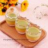 Bottiglie di vetro del latte di figura dell'uovo per pudding