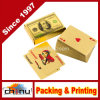 Paquet de cartes de luxe de jeu de tisonnier de clinquant d'or 24k de Llf Carta De Baralho avec le cadre bon