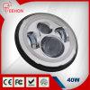 Diodo emissor de luz 40W do farol do carro do jipe de 7 polegadas diodo emissor de luz do farol do carro de 3200 lúmens com halo de White&Amber