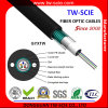 12 cable óptico central óptico de fibra del tubo GYXTW de fibra del solo modo de la base