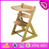 Alta qualidade Wooden Baby Feed Chairs, Wooden Toy Baby Sitting Chair, Hot e desenhador de moda Wood Baby Sitting Chair W08f035