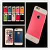 Goedkope Silicone Leather Case voor iPhone 6/6s met Round iPhone Logo