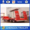 60 toneladas 2 de Axle Lowbed Semi Trailer para Sale