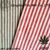 Cáñamo Yarn-Dyed/tela orgánica de la raya del algodón (QF13-0005)