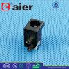 Alimentation CC Électrique en plastique noire de 2.1mm/2.5mm Jack