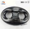 Dispositif d'accrochage de Kenter peint par noir de chaîne d'ancre d'acier de forge