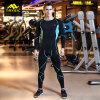 Camisa de la funda de la ropa de deportes del Mens y juego largos de Legging