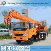 Gru mobile utilizzata attenzione del gruppo di lavoro telescopico idraulico dell'asta con il forte telaio del camion