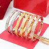 La mode a vissé le plein bijou de bracelet de bracelet d'acier inoxydable d'amoureux de diamant