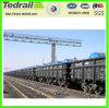 石炭、鋼鉄交通機関のための鉄道の上の開いたワゴン
