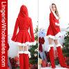 La Navidad de Santa de las mujeres con el traje del capo motor y de la correa