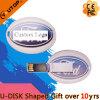 Mecanismo impulsor oval del flash del USB de la tarjeta del regalo de encargo más nuevo 2016 (YT-3120)